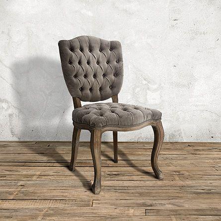 Ava Upholstered Dining Side Chair In Elizabeth Platinum