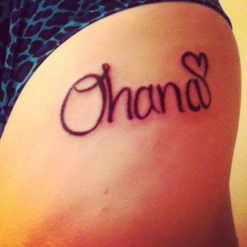 Tattoo ohana disney beauty pinterest ohana for Ohana infinity tattoo