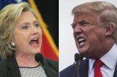 """DONALD TRUMP (Republicano) e HILLARY CLINTON (Democrata) """"cruzam os dedos"""" para que os resultados das urnas confirmem o favoritismo que, dizem as pesqusias, eles possuem.  Enquanto seus adversários, especialmente do lado republicano, entram em """"parafuso"""" ante a perspectiva de derrota acachapante."""