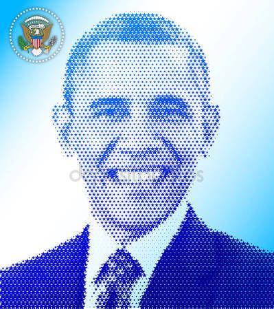 Stati Uniti dAmerica - 2016 - Barack Obama ci Presidente 2009-2016 — Vettoriali Stock © frizio #130650780