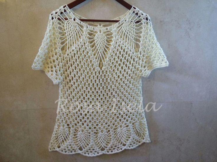 blusa de piñas fácil y rápida parte 1