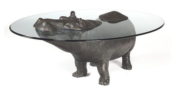 Hippopotamus Table - Suaygırı Masa  Can never think of a reason I need this, but that doesn't mean its not awesome!