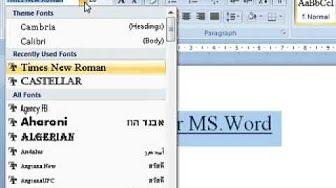 tutorial belajar microsoft word - YouTube