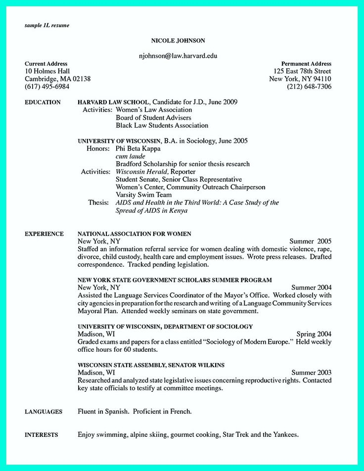 Scholarship Application Cover Letter resume template Pinterest - most common resume format