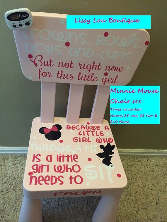 Minnie Mouse Time Out Chair by LissyLouBoutiqueShop on Etsy