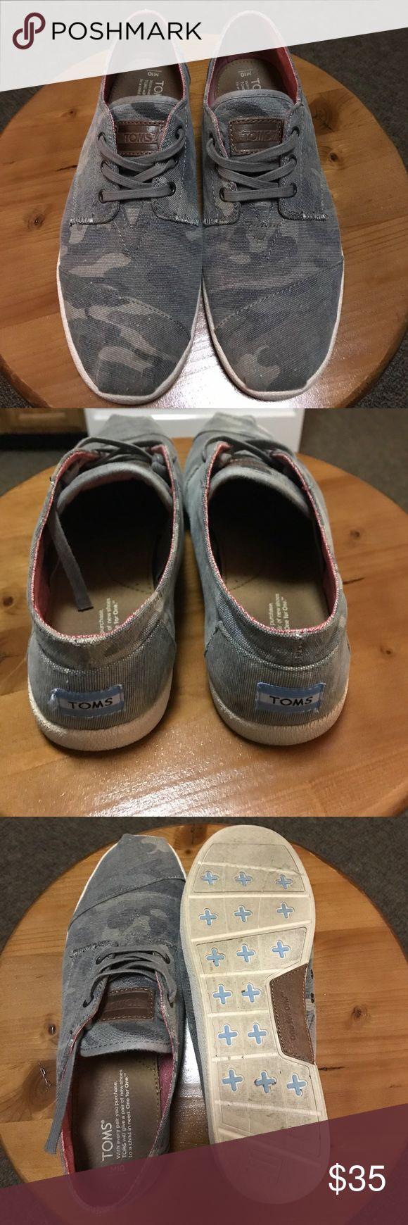 Men's size 10 camo Toms Men's size ten camo  Toms.  Excellent condition.  Worn a handful of times. TOMS Shoes Sneakers