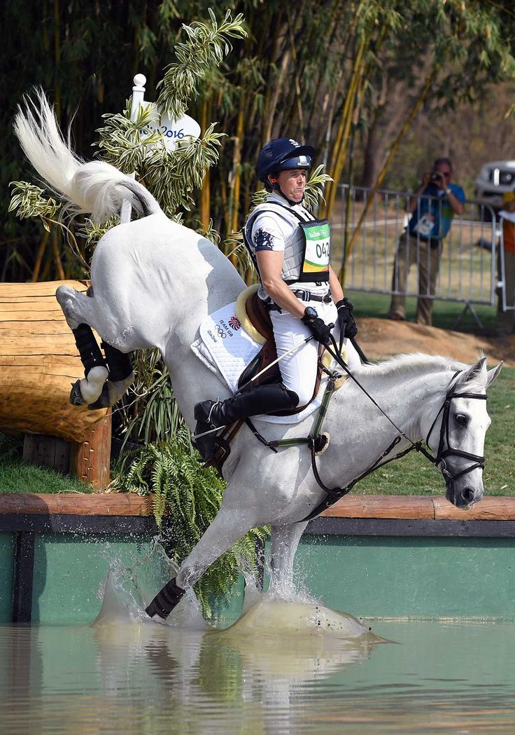 Britain's Pippa Funnell on Billy the Biz competes in the Eventing's Individual Cross Country of the Equestrian.