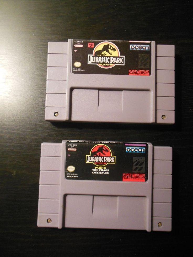 Jurassic Park 1 & 2 (Super Nintendo / SNES) Tested  | eBay