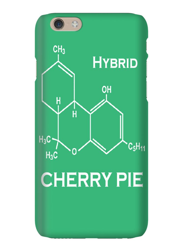 Cherry Pie Hybrid Strain Weed Marijuana Phone Case