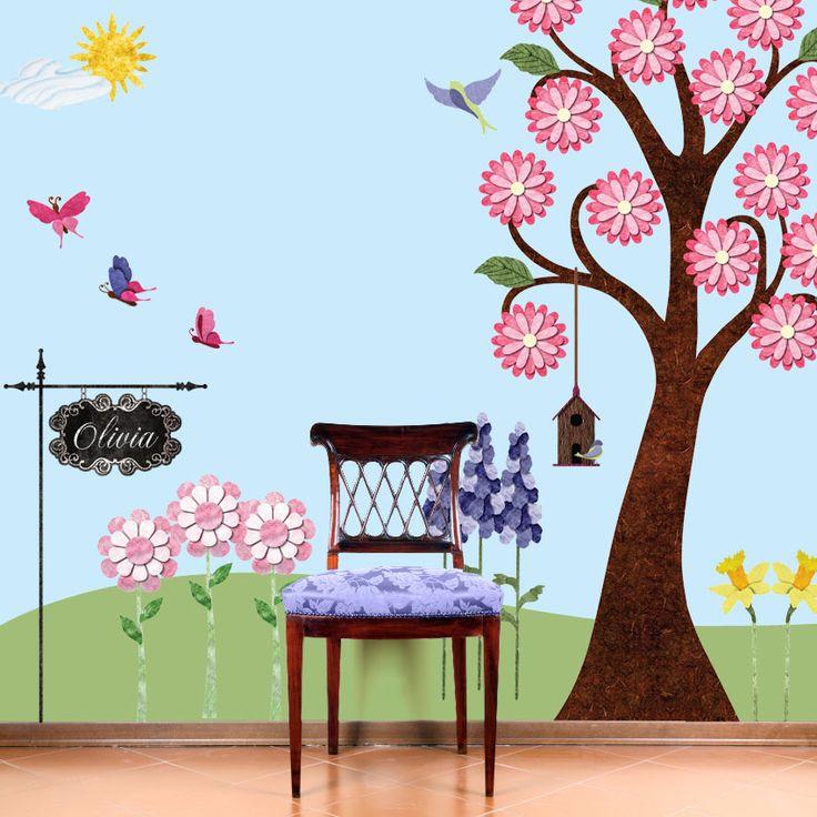 Splendid Garden Wall DIY Sticker KitLittle Girls Room, Garden Walls, Kids Room, Wall Murals, Wall Decals, Gardens Wall, Flower Gardens, Wall Stickers, Girl Rooms