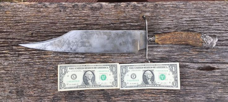 """ABSOLUTE MASSIVE G. WOSTENHOLM I XL SHEFFIELD BOWIE THATS 19 1/2"""" OVER ALL. SOME NICKS TO BLADE & GUARD. INTERNATIONAL AT COST ! 