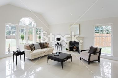beautiful lounge with fireplace Royalty Free Stock Photo