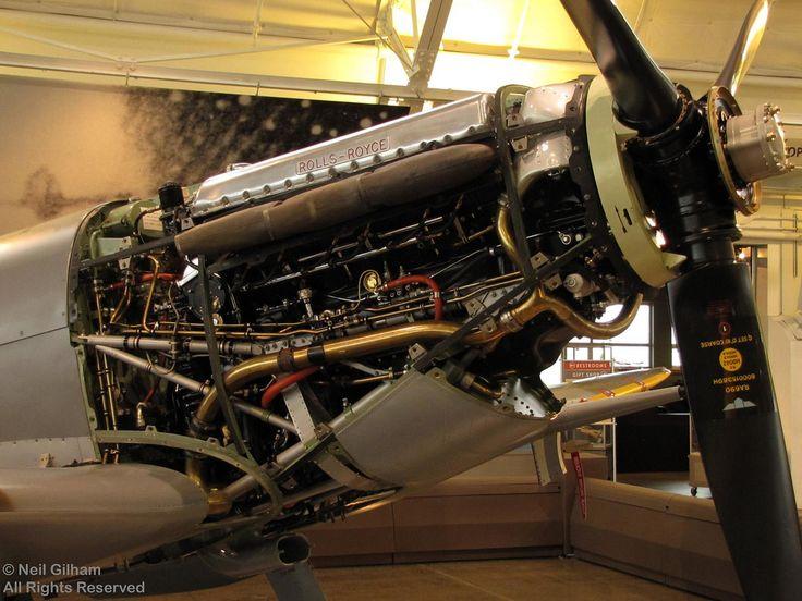 WW2  Spitfire Rolls Royce engine - by Stones 55 via flickr