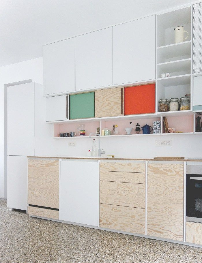 Love the mixed use upper cabinets  Dries Otten kitchen