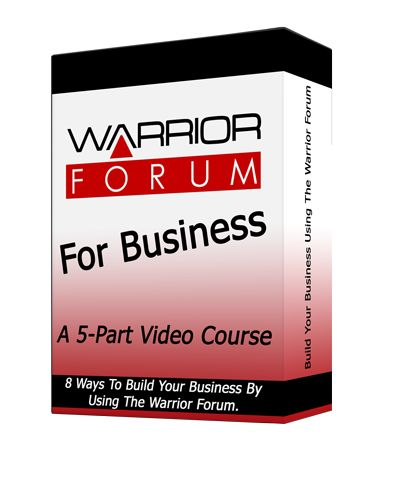 #WarriorForum For #Business #PLRVideo Course - Warrior Forum has stood the test of time and helped millions of #marketers to build their online businesses.  Now you have a chance to grab a Warrior Forum #Training PLR #VideoCourse where you have the right to even resell #PLR!  This Awesome PLR Course is targeted at teaching #internetmarketers and #onlinebusiness owners 8 ways to grow their businesses using the Warrior Forum.