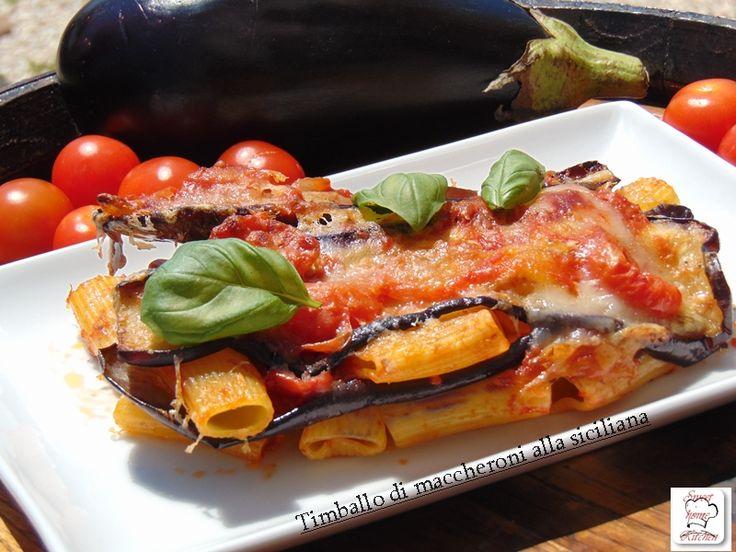 Timballo di maccheroni alla siciliana ricetta facile