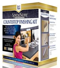 The best product I have come across yet! This Spread Stone counter finishing kit transformed our old laminate countertops and made them look brand new. Did I mention it only cost $125.00!!