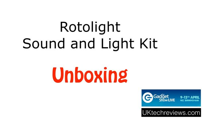 Rotolight sound and light kit unboxing