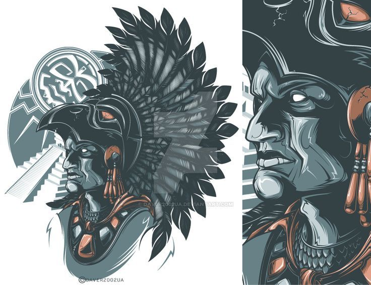 Download Free Aztec Warrior by Daver2002ua on DeviantArt Tattoo to use and take to your artist.