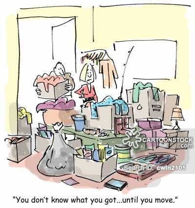 Packing cartoons packing cartoon funny packing picture for Moving into a new build house tips
