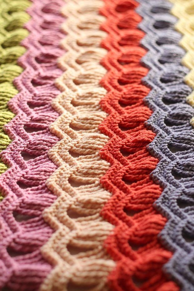 Vintage Fan Ripple Blanket: free pattern