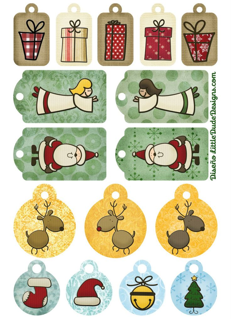 Tarjetas, etiquetas y pegatinas de navidad imprimibles de BlogDesign.ess | Amor Maternal