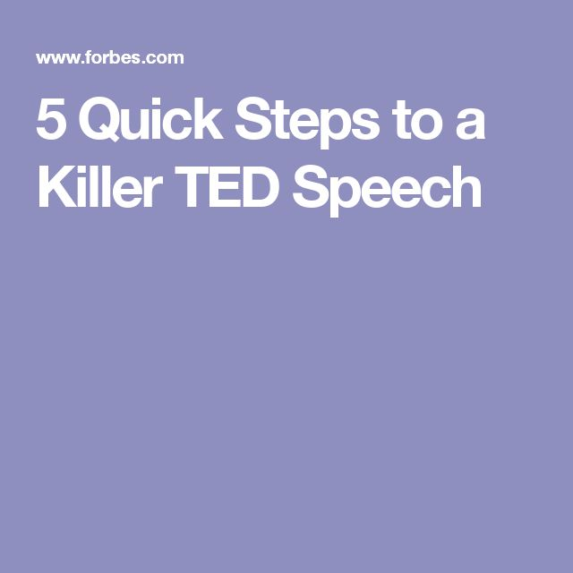 5 Quick Steps to a Killer TED Speech