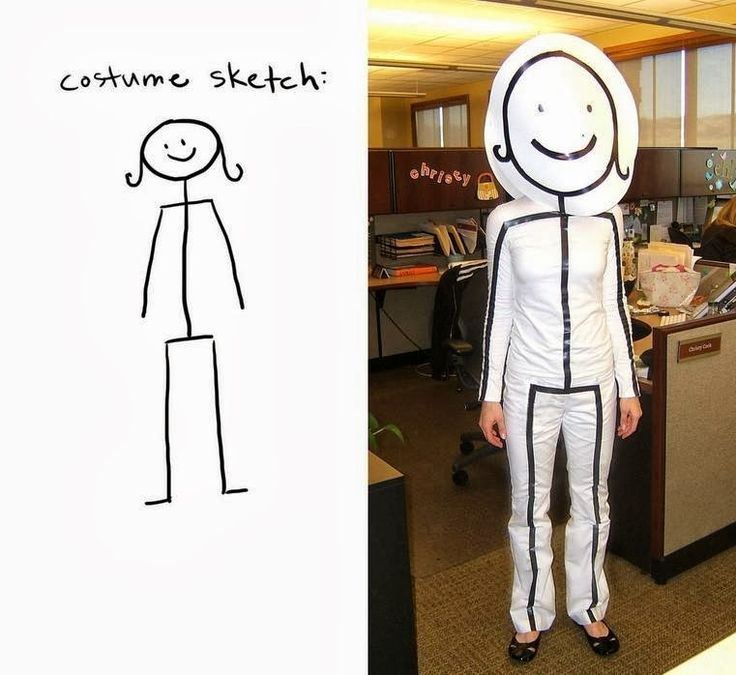 Bring your stick figure dreams to life. | 21 Unusual Halloween Costumes You Can Make Yourself