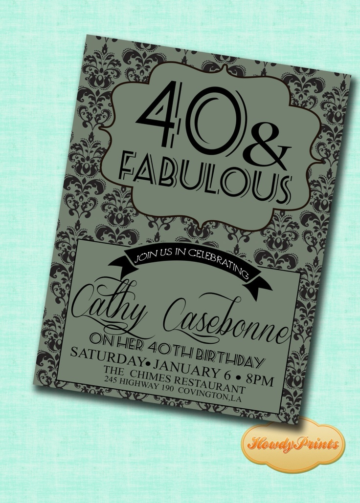 26 best 50th birthday invites images on Pinterest | Party planning ...