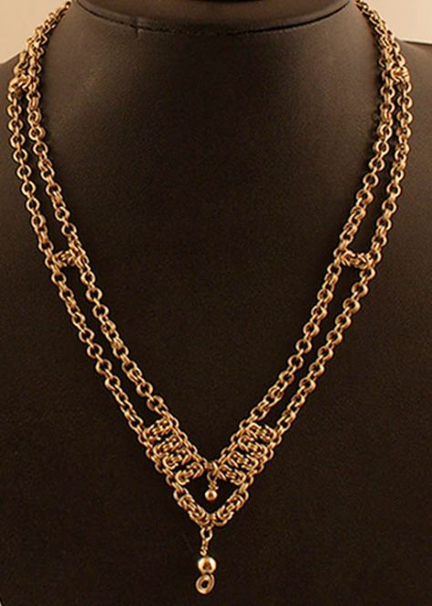 14k Gold, Chain Maille, necklace