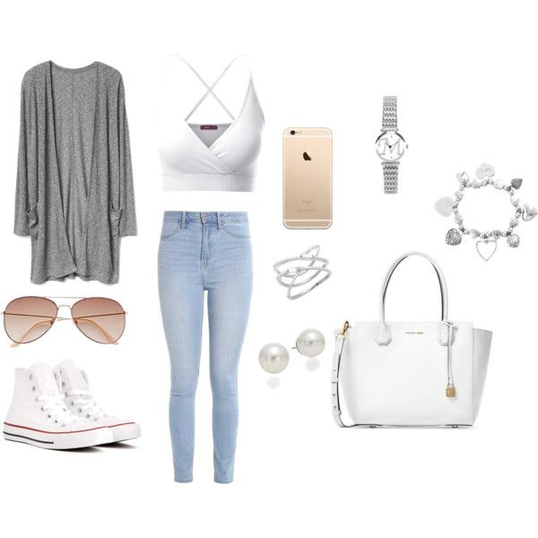 Untitled #6 by taurahell on Polyvore featuring Doublju, Hollister Co., Converse, Michael Kors, ChloBo, AK Anne Klein and H&M
