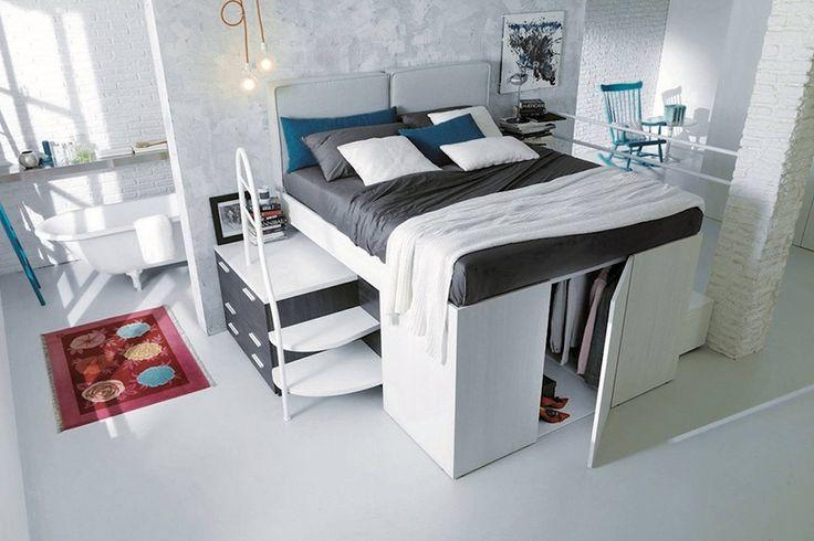 解決蝸居收納的煩惱!將衣櫃藏入床底!