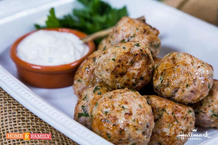 fabioviviani makes Italian-Herbed Turkey & Pork Meatballs w/ Greek ...