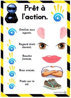Prêt à l'action, donne m'en 5, gestion classe : pour récupérer l'attention des élèves