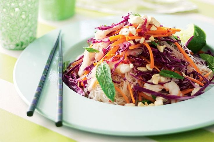 Prawn, cashew and mint salad with sweet chilli dressing