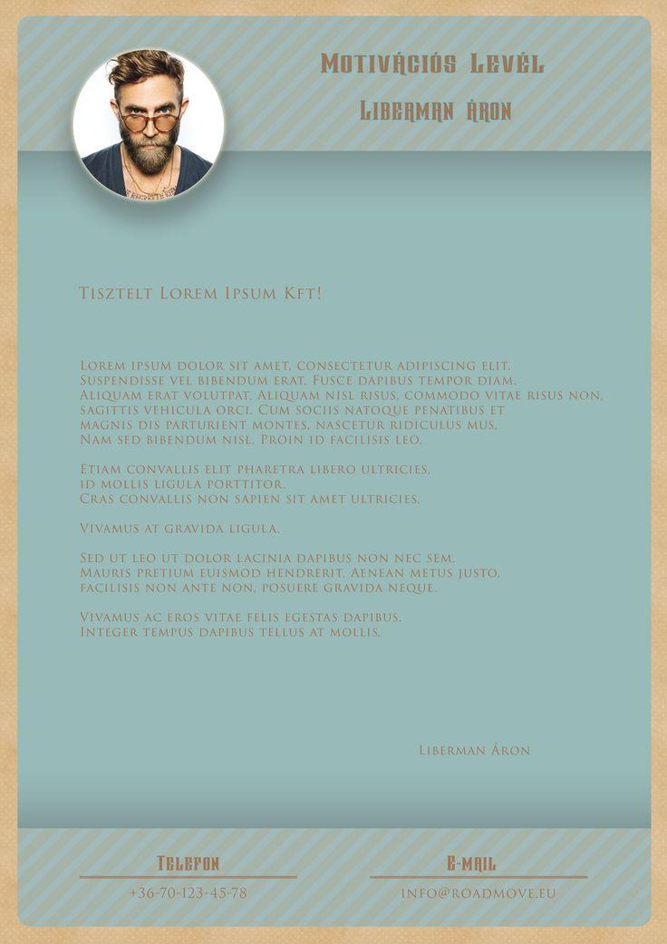 Egyszerű HWD Motivációs levél.
