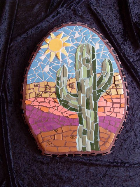 Mosaic wall art | Guess what this is made on :^D | Christine | Flickr