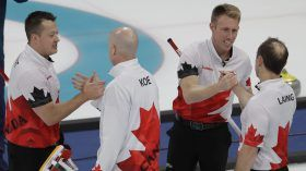 Canada is now just two wins away from its fourth straight Olympic gold in men's curling, after a comfortable win...