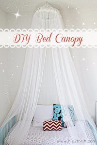 42 DIY Room Decor for Girls - Bed Canopy DIY - Awesome Do It Yourself Room Decor For Girls, Room Decorating Ideas, Creative Room Decor For Girls, Bedroom Accessories, Insanely Cute Room Decor For Girls http://diyjoy.com/diy-room-decor-girls
