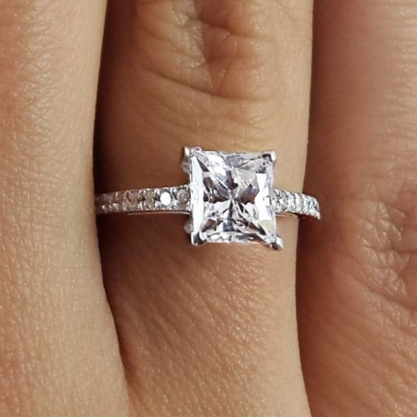 Pin On Princess Cut Diamond Ring