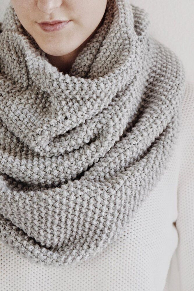 New Thick Warm Winter Snood Scarf Women Chunky Cable Ring