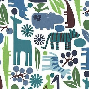 2-D Zoo Cotton Fabric