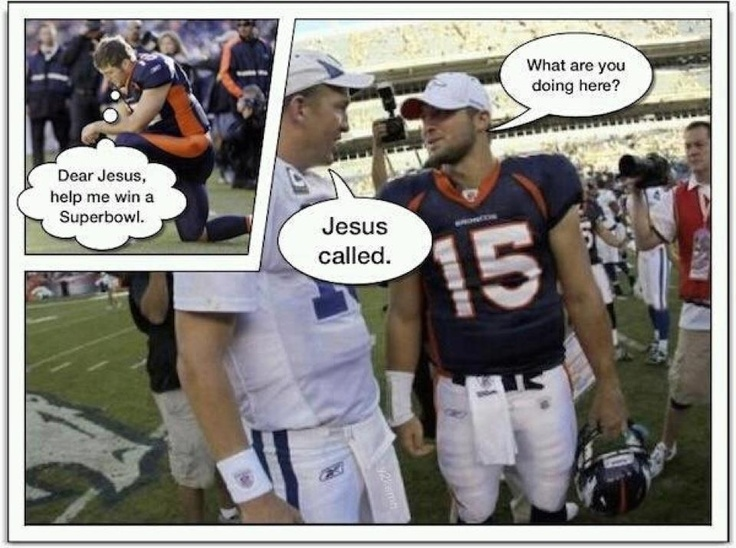 I love Tim Tebow and want to marry Peyton Manning...but this is funny!