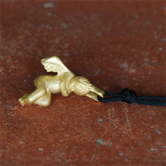 Eros, the god of love, gold plated bronze pendant.  http://www.my-precious.com/#!product/prd14/2708129251/eros---gold-plated-pendant