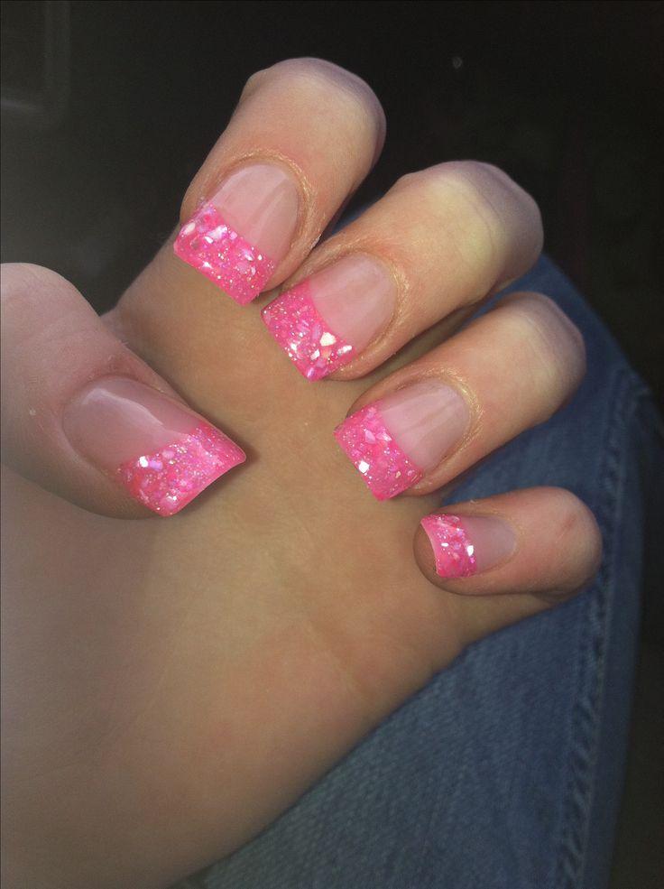 Solar nails tickle me pink color