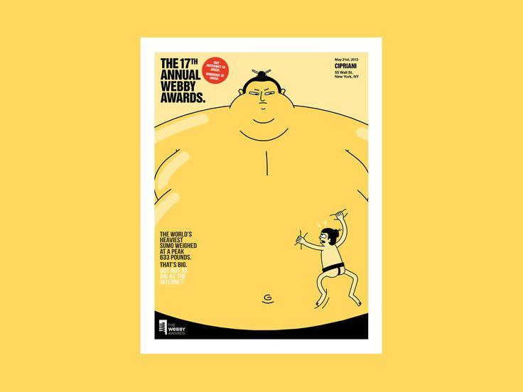 The Internet Is Huge, The Webby Awards — Dan Woodger Illustration
