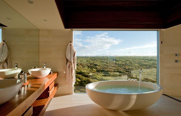 Osprey Pavilion Bathroom. Southern Ocean Lodge, Kangaroo Island, Australia. © Luxury Lodges of Australia