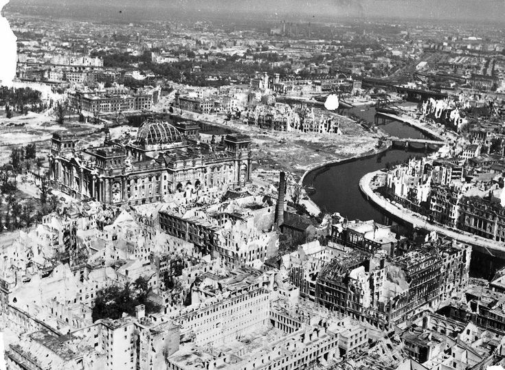 Berlin, like most cities in Germany, lay in ruins when World War II came to an end.