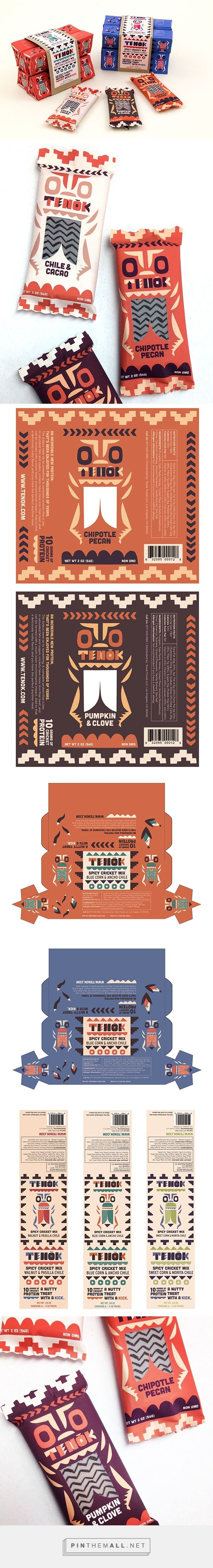 Tenok Cricket Snacks on Behance by Alexander Vidal curated by Packaging Diva PD.