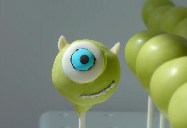 birthday cake pops | Green Monster Ink Cake Pops – Boy Birthday Cake Pop Ideas